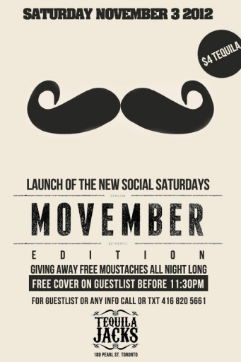 Movember Party At Tequila Jacks Caribana Info Amp Tickets